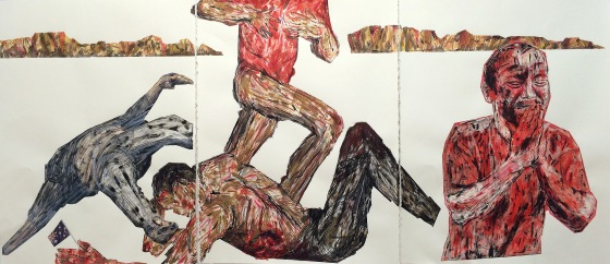 people-in-pain2015mixed-media-on-paper-h76x168cm